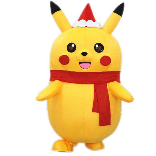Merry Christmas Pikachu mascot costume for adult