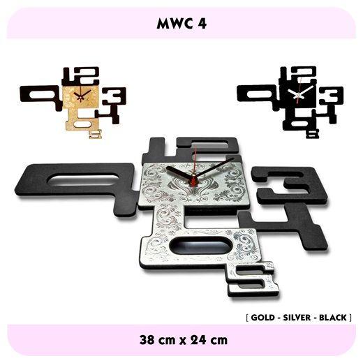 Modern Walls Clock_4 (Gold-Silver-Black)Price Rp.150.000,-