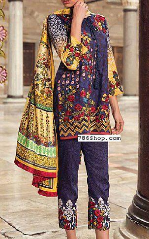 f17473785d Indigo Lawn Suit   Buy Mina Hasan Pakistani Dresses and Clothing online in  USA, UK