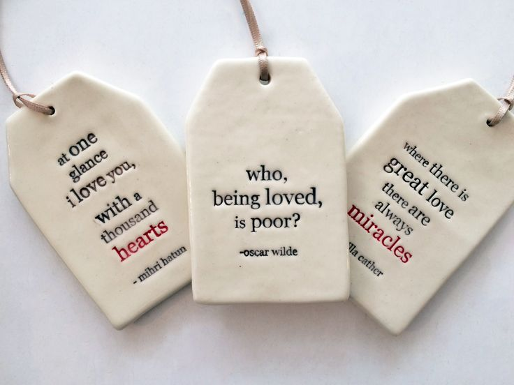 These beautiful ceramic tags make for a great gift // @paperboatpress // Kylie Johnson