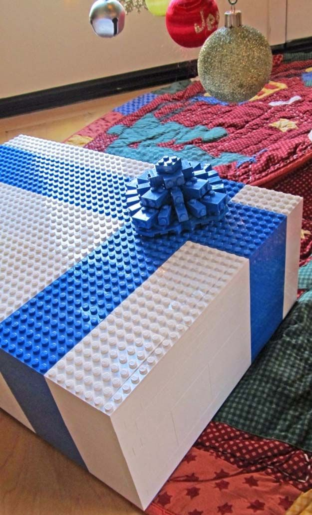 DIY Gift Wrapping Ideas - How To Wrap A Present - Tutorials, Cool Ideas and Instructions | Cute Gift Wrap Ideas for Christmas, Birthdays and Holidays | Tips for Bows and Creative Wrapping Papers |  Lego Gift Wrapped Box Idea |  http://diyjoy.com/how-to-wrap-a-gift-wrapping-ideas