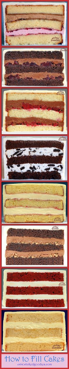 """""""How to Fill Layer Cakes"""" - Interesting Tips and Tutorials at - http://www.wickedgoodies.net #Tutorials"""