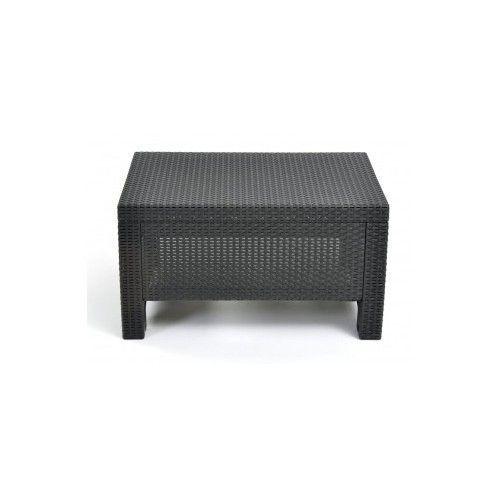 Outdoor Coffee Table Keter Corfu Patio Porch Furniture Waterproof Yard Garden  #Keter