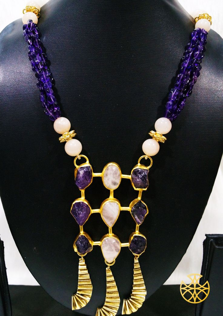 If you're big on the stone trend, then an amethsyst stone can add just the right purple & poise to your jewellery collection!  Follow us on Instagram: instagram.com/malanajewels/  Like us on Facebook: www.facebook.com/malanajewels  To buy, please mail us on info@malanajewels.com with your requirements or call us on +91 9820302982.