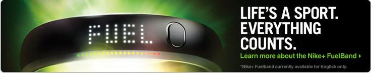 Nike Fuel band - soon to be linked to Nike+. Love Nike!