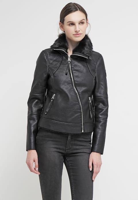 Eine Kunstlederjacke zum Verlieben ! Maze ERIE - Kunstlederjacke - black für 90,95 € (09.11.16) versandkostenfrei bei Zalando bestellen.