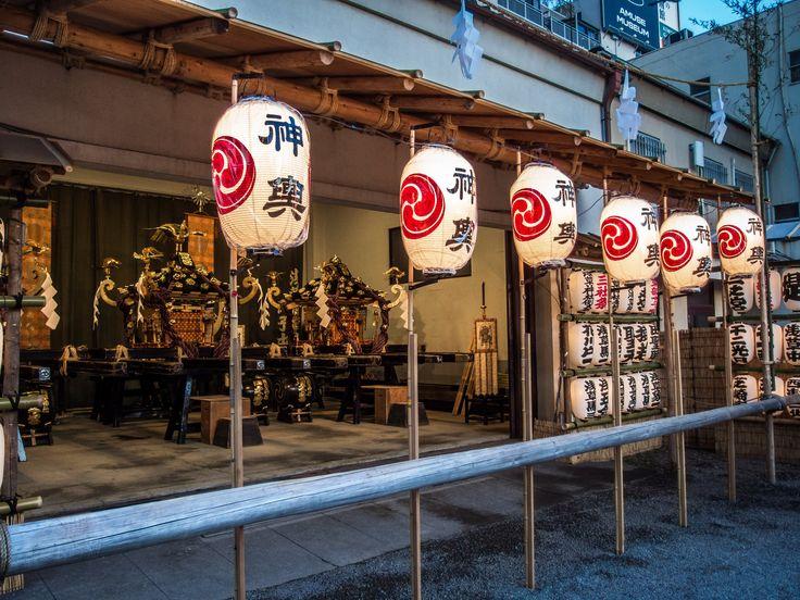 Asakusa Honsha Mikoshi Mitamaire 1/6 The warehouse of the honsha mikoshi (Asakusa Jinja's three omikoshi) is open for the mitamaire ceremony, when the kami spirits of the Sensoji founders enshrined in the jinja will be transferred to their temporary abode for the Sanja Matsuri. #Asakusa, #omikoshi, #matsuri, #Sanja, #honsha, #Jinja, #mitamaire, #Sensoji May 12, 2016 © Grigoris A. Miliaresis