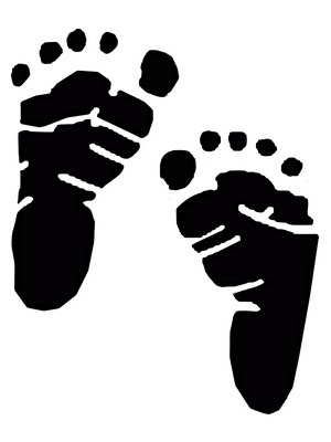 Vinyl Footprints Baby Feet So Cute 1 Silhouette Svg