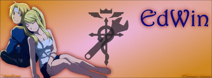 Edward Elric and Winry Rockbell from Fullmetal Alchemist: Brotherhood, FB Cover size