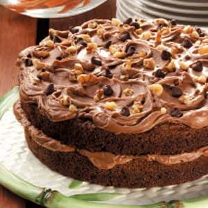 Chocolate Carrot Cake - great way to 'hide' some fruits and veggies. (Added homemade raisins and pecans to the cake.)