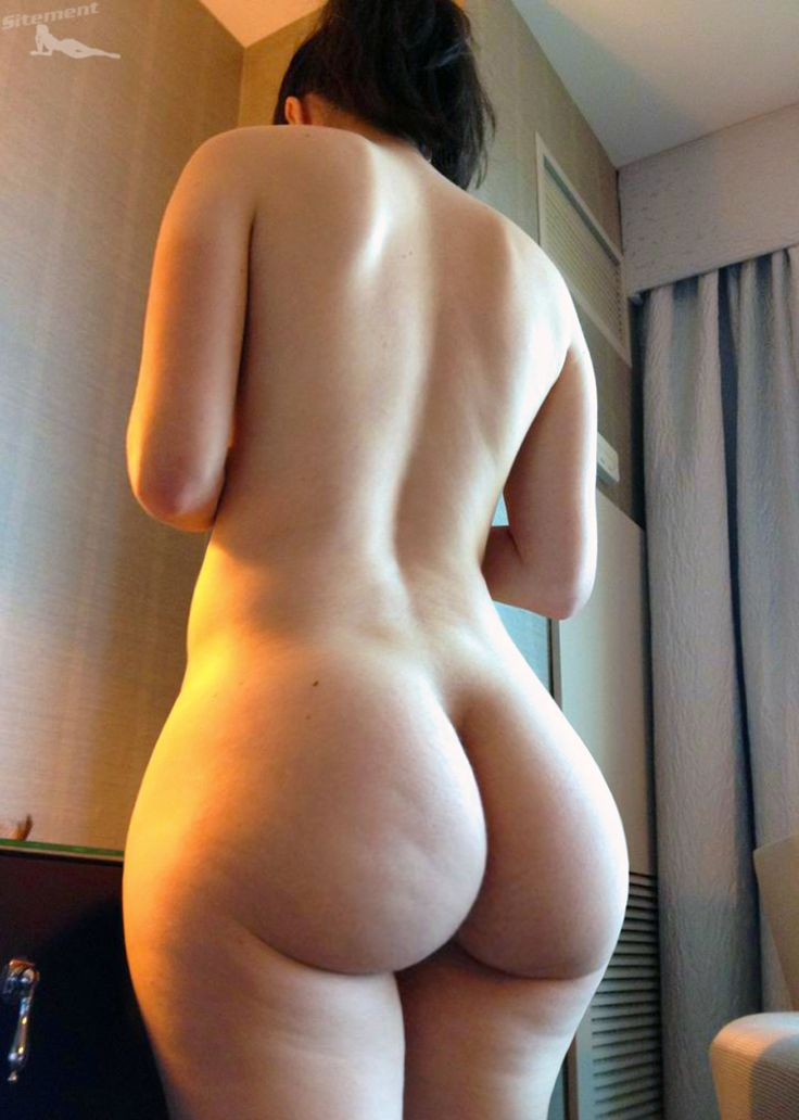 white round female ass naked