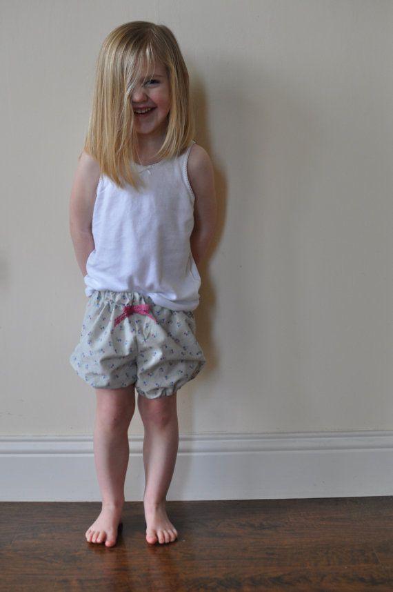 Girls+Shorts++Children's+Shorts+Ditsy+Grey+Cotton