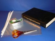 Make a durable plastic book cover