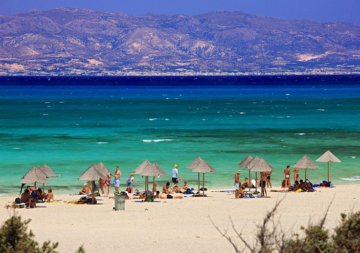 Golden Beach on Chrissi island, a tiny paradise south of Ierapetra, Crete