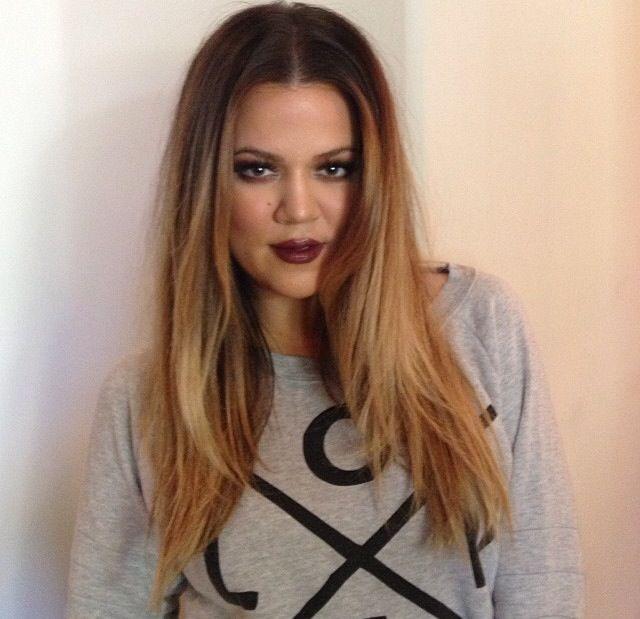 Ombre On Khloe Kardashian Hair Ideas Pinterest