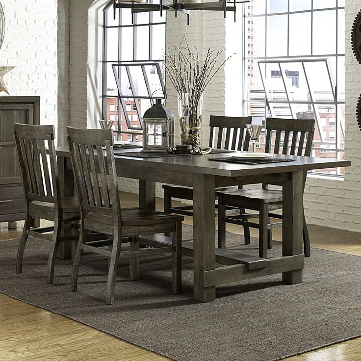 table would look good with black kubu chairs magnussen karlin wood rectangular dining table in grey acacia lowest price online on all magnussen karlin