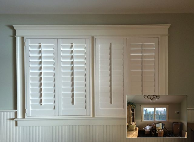 Kitchens With White Plantation Shutters On Windows