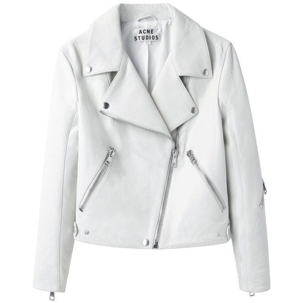- OBJECTS - / Acne / Rita Leather Jacket ❤ liked on Polyvore