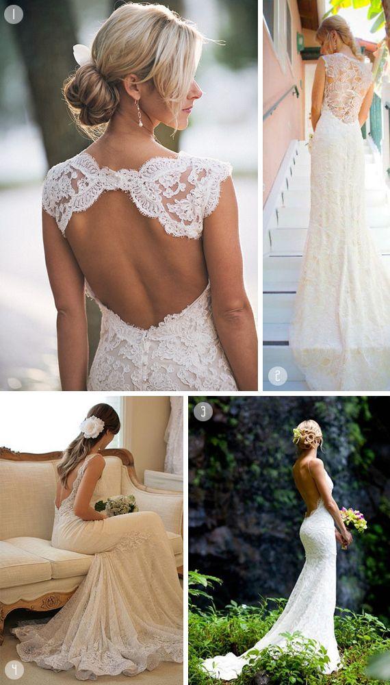 brudekjole med bar ryg, brudekjole med rygudskæring, bryllup