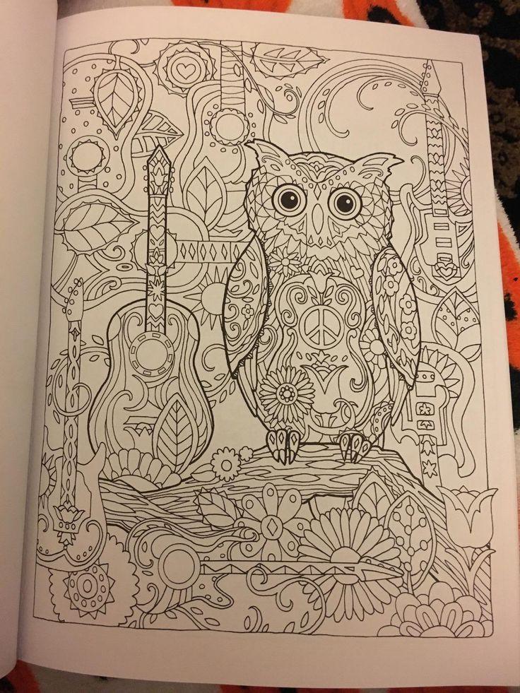 Amazoncom Creative Haven Owls Coloring Book Adult 1522439