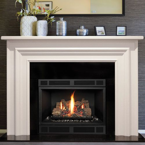 Gas Log Mantel Fireplace Images