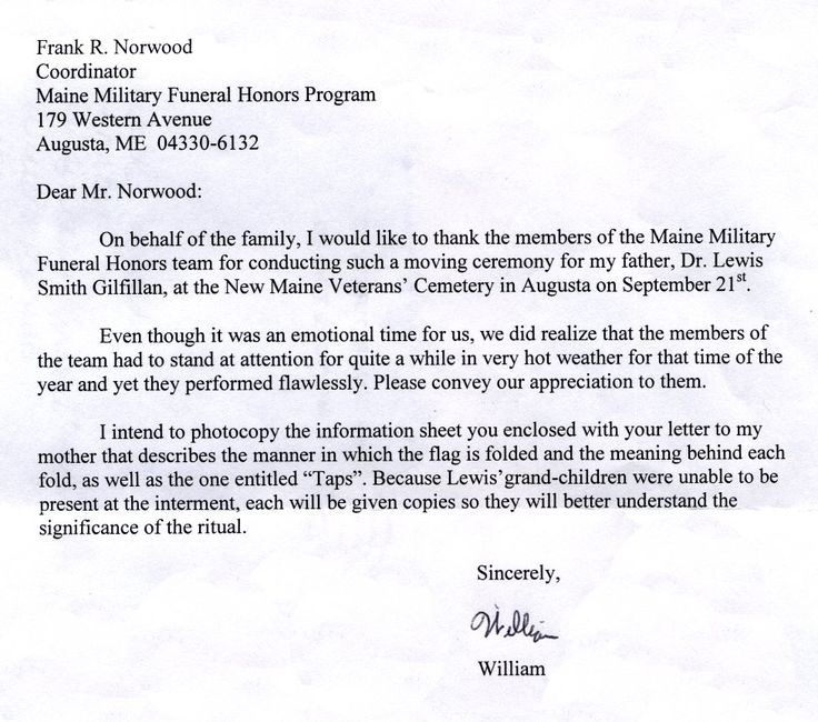 letter burial request just buse photo thank you acknowledgement - burial ceremony program