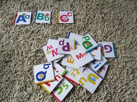 alphabet game for kids w/ free printable alphabet