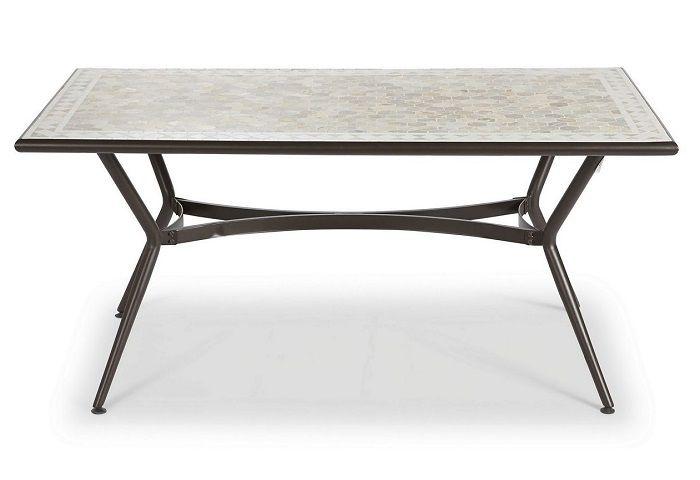 Table de jardin métal et marbre Sofia Blooma – Table de jardin Castorama