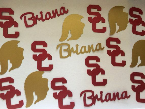 University of Southern California USC Trojans Cardinal & Gold College Graduation Personalized Confetti - Class of 2015, Party