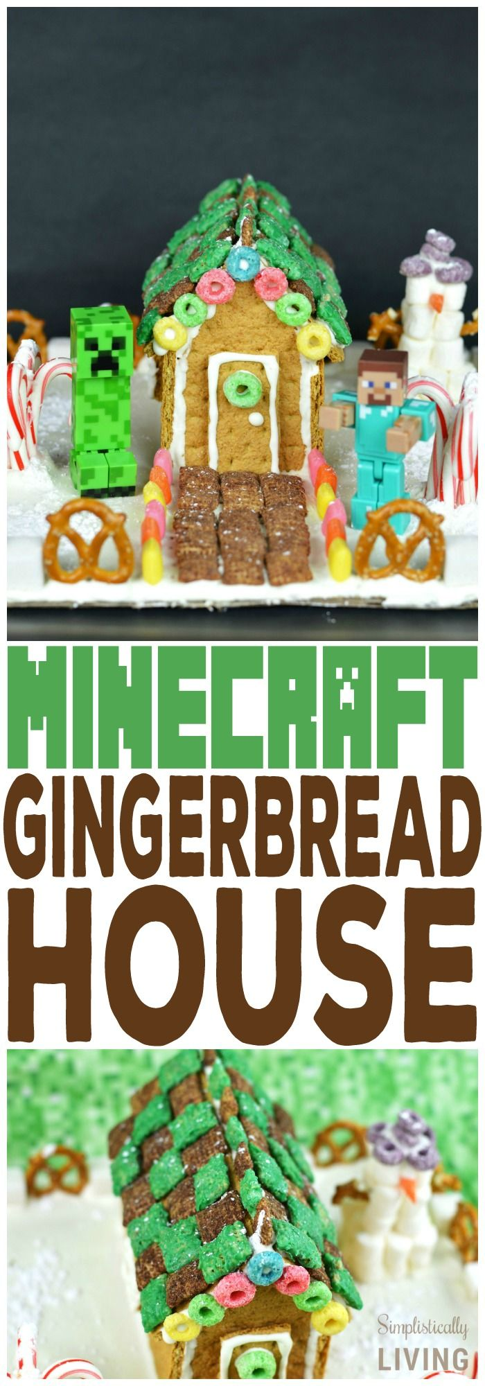 Minecraft Gingerbread House Simplistically Living #ad #HoneyMaidHouse