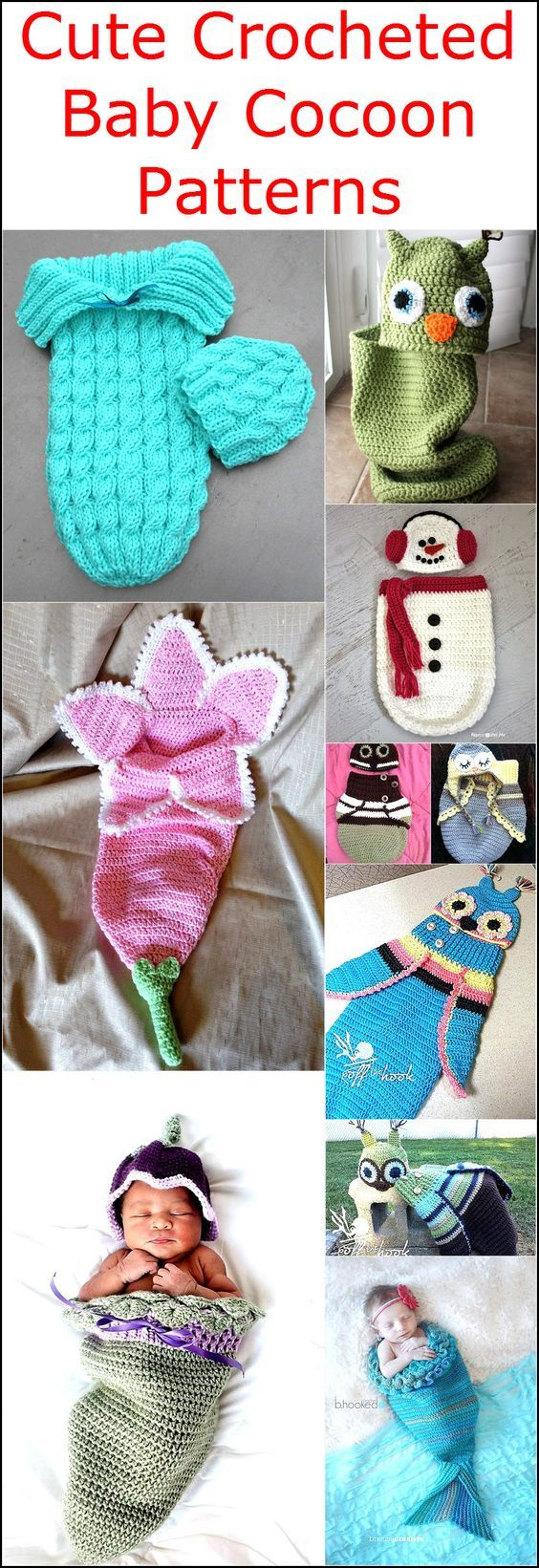Cottage snuggle sack and hat crochet baby baby cocoon and sacks - Crocheted Baby Cocoon Patterns Are The Best Way To Cover The Whole Body Of The Baby
