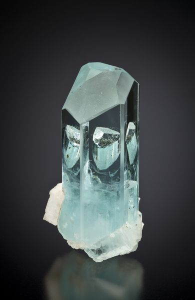 Beryl var. Aquamarine-Schorl  Nyet Bruk, Pakistan  65mm  Photographed for The Arkenstone  ex Herb Obodda Collection : Beryls : Mineral Photographer