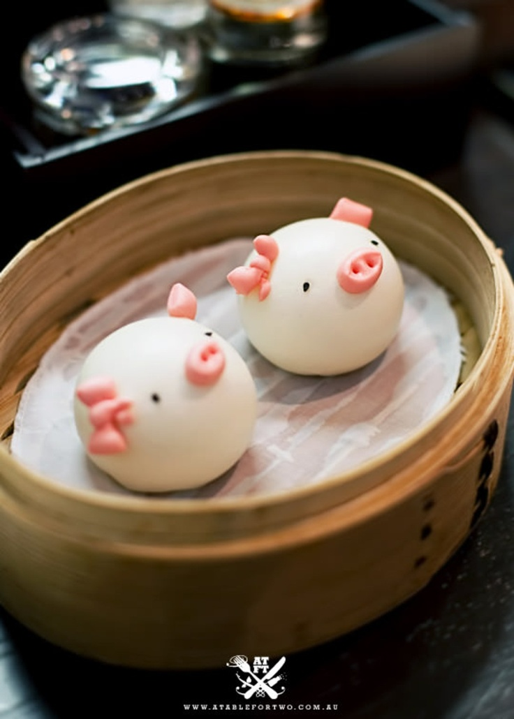 Chefs Gallery 中厨 - Sydney CBD (A Table For Two) {Steamed Sesame 'Piggy Face' Buns}
