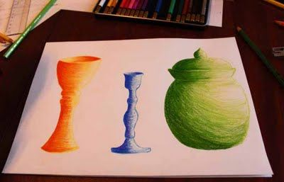 Dirksen Dabbles: art lessons - shading with color