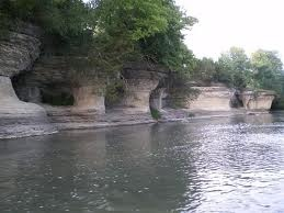 A wonderful natural phenomenon and a must see...the Seven Pillars near the Mississinewa Reservoir in Indiana!