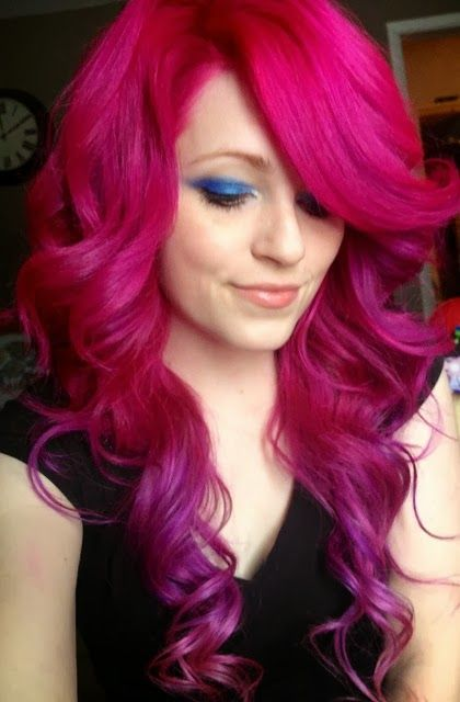 Magenta Ombre Mood Board Hair Purple Hair