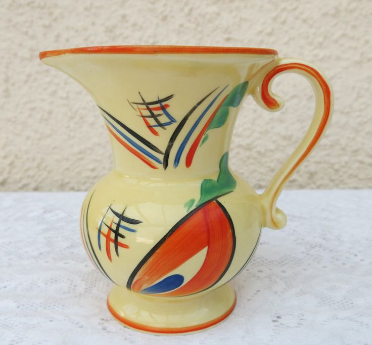 Collectable Art Deco Abstract Pattern Jug by Ditmar Urbach by WestCoastChinaDoll on Etsy https://www.etsy.com/listing/475932340/collectable-art-deco-abstract-pattern