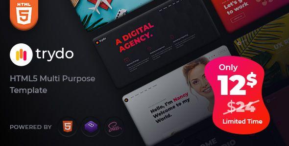 Trydo Creative Agency And Portfolio Bootstrap Template Stylelib Themes In 2021 Wordpress Theme Portfolio Wordpress Theme Creative Agency