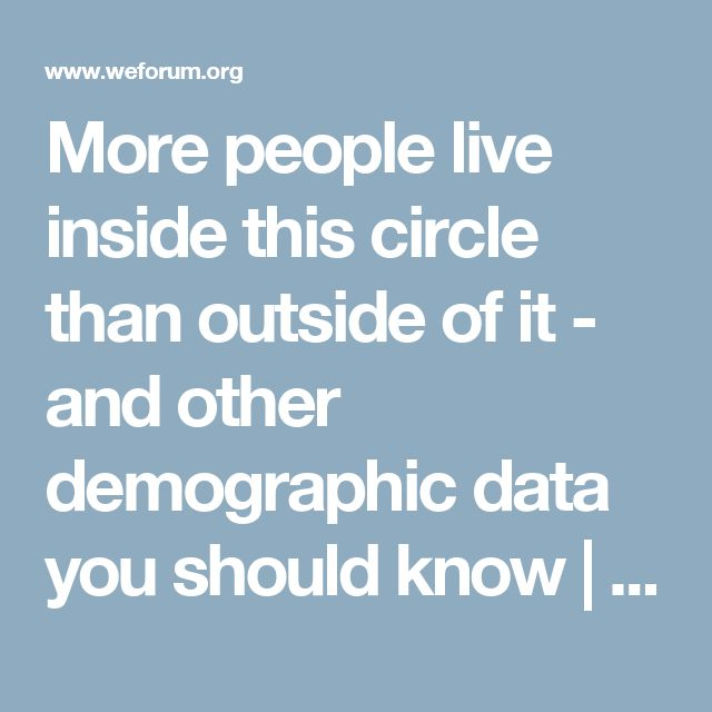 More people live inside this circle than outside of it - and other demographic data you should know | World Economic Forum