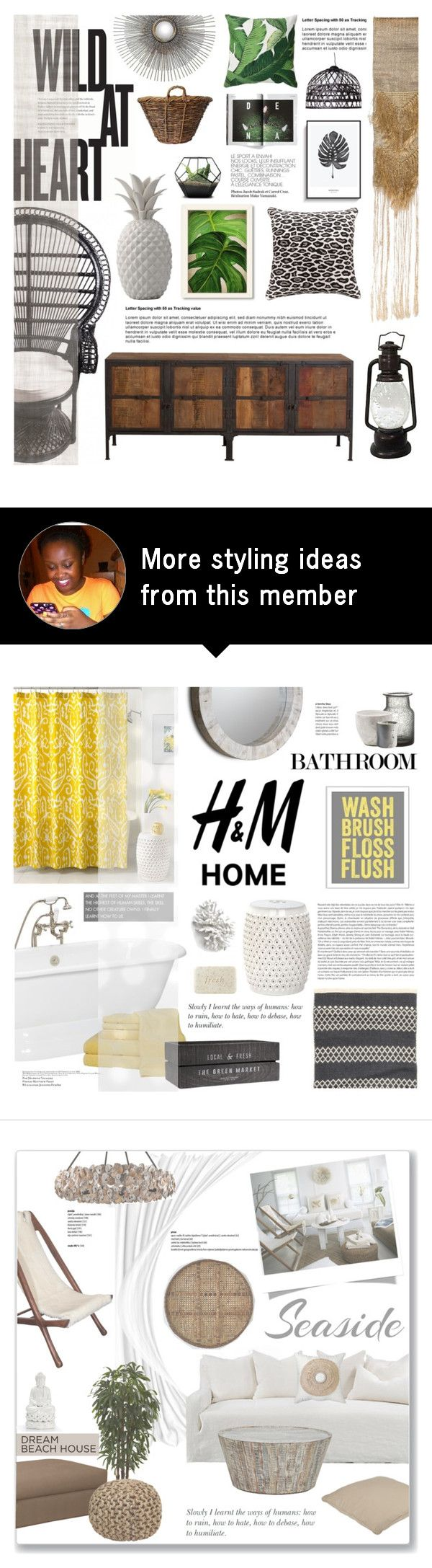 """Tropical Obsession"" by fyenksfiona on Polyvore featuring interior, interiors, interior design, home, home decor, interior decorating, Tantra, Dot & Bo, Carhartt and Creative Co-op"