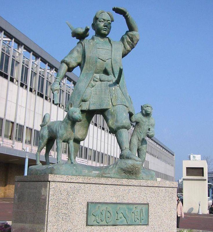 Statute of Momotaro (Peach Boy) ~ Okayama City, Okayama Prefecture