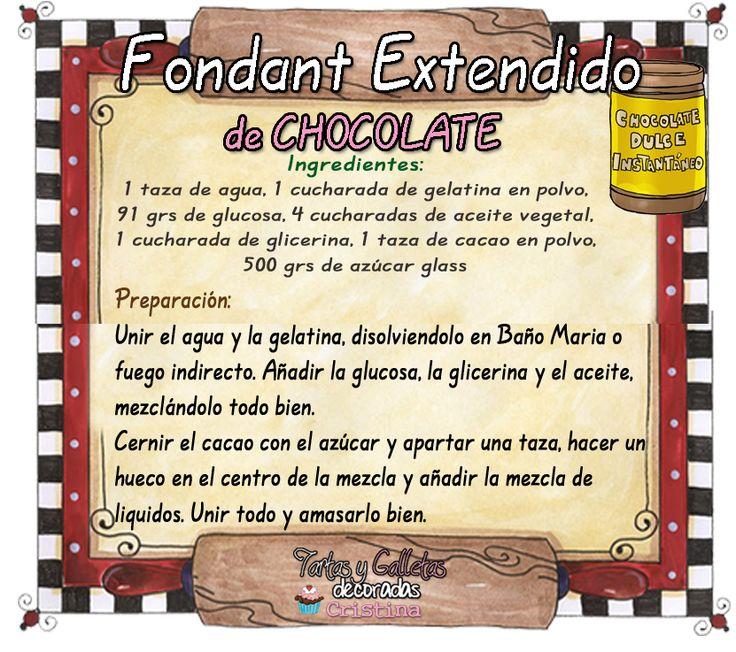 Tartas, Galletas Decoradas y Cupcakes: Recetas de Chocolate Negro Moldeable