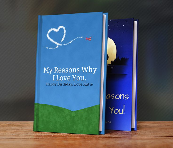 LoveBook is the most unique Personalized Birthday Gift you could ever give to someone you love.  Create your own personalized book of reasons why you love someone.  LoveBook is the perfect Paper Anniversary Gift!