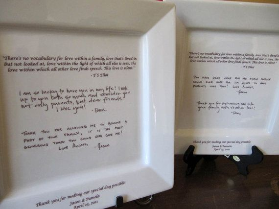 Wedding Gifts For Parents In Law : to Parents on a Platter Wedding Gift from Bride and Groom Gifts ...