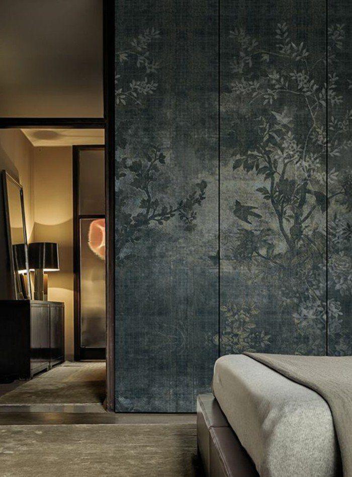 les papiers peints design en 80 photos magnifiques papier peint dans la maison pinterest. Black Bedroom Furniture Sets. Home Design Ideas