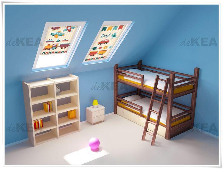 Rolety dachowe deKEA do pokojów dziecięcych. Setki wzorów do wyboru - do okien Fakro, Velux, Roto, Okpol i innych