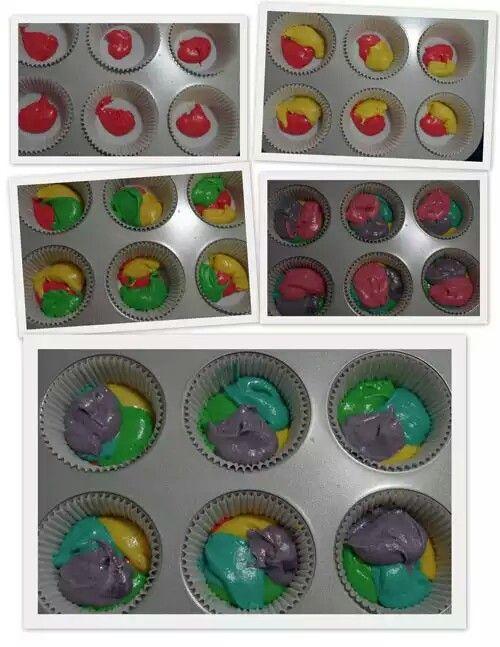 Cupcake arcoiris
