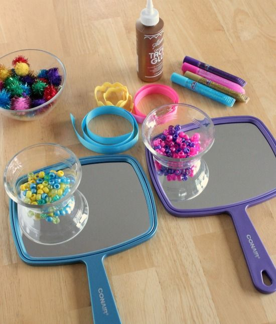 Mirror Mirror Craft Supplies around $1.50 per person if you use the 99C or $1 stores)