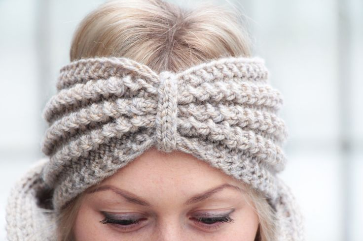 beige knit headband for women, knitted winter headpiece, large wool head accessories, cozy and soft headband for her, knitting knitwear warm by JolantaKnit on Etsy https://www.etsy.com/listing/219978181/beige-knit-headband-for-women-knitted