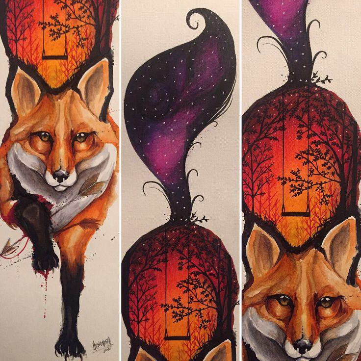 Fox, zorro, ilustración zorro